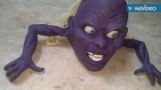 "Gemmy Halloween Animated ""Night Crawler"" (Purple version) also inside look."