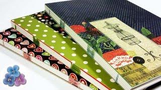getlinkyoutube.com-Como Hacer Encuadernacion Casera Facil Cuadernos 120 paginas Tutorial DIY Scrapbook Pintura Facil