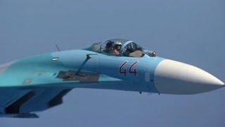 getlinkyoutube.com-ロシア空軍のSu-27にインターセプトされるNATO軍機 - Russian Air Force Su-27 Intercept