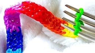 getlinkyoutube.com-Rainbow Loom-Pulseira De Elásticos com o garfo-Loom Bands Bracelet