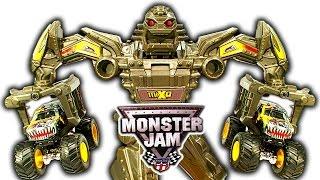 getlinkyoutube.com-Hot Wheels Monster Truck Maximum Destruction MaxD Monster Robot Mayhem