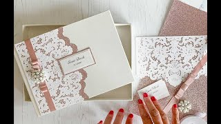 Luxury Wedding Guest Book To Make At Home   Personalised Guest Book