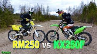 getlinkyoutube.com-Dirt Bikes RM250 vs KX250F