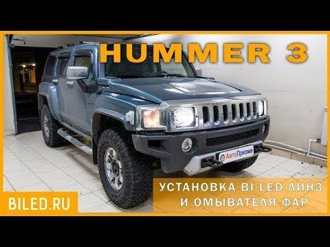 Hummer H3 Установка светодиодных линз Optima Professional Series