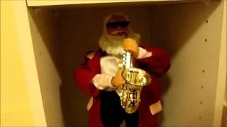 getlinkyoutube.com-Gemmy - Sax Playin' Santa