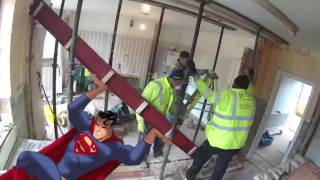 getlinkyoutube.com-how to remove internal load bearing wall with steel beam RSJ installation | London