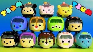 getlinkyoutube.com-Disney Tsum Tsum Cars Diecast Collection Disney Motors ディズニー ツムツム Takara Tomy Mickey Minnie TsumTsum
