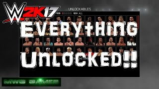 getlinkyoutube.com-Me unlocking everything in WWE 2K17 on Last Gen XBox 360 and PS3 ( roster discussion )