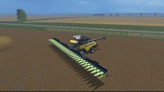 getlinkyoutube.com-LS15 - Dreschen mit einen 30 Meter Maisschneidewerk - capello hs30 v 5.0