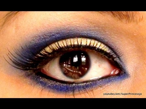 Bollywood Makeup, Indian Bridal, Blue Gold  Trendy Eye Makeup Of Bollywood Beauties SuperPrincessjo