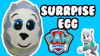 """getlinkyoutube.com-GIANT """"Paw Patrol Surprise Egg"""" of Everest [The New Pup] Made of Play-Doh"""