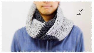 getlinkyoutube.com-スヌードの簡単な編み方・作り方(1)かぎ針・初心者さん向け diy simple crochet cowl tutorial