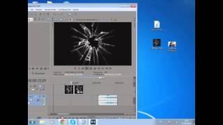 getlinkyoutube.com-Efecto cristal roto y quitar fondo verde y normal - Sony Vegas Pro 13