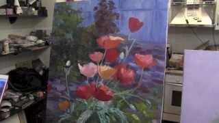getlinkyoutube.com-Научиться рисовать маки, живопись для начинающих, художник Сахаров