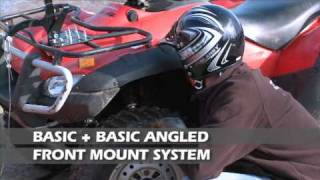 Quad-X Front Mount Accessories including atv yard scraper and snow plough
