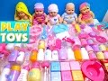 Baby doll toys 100 baby accessories - playing bathtime, feeding, potty, diaper change