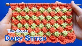 getlinkyoutube.com-Two-color Daisy stitch