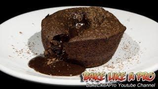 getlinkyoutube.com-Molten Chocolate Lava Cakes Recipe - Cupcake Tins !