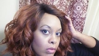 getlinkyoutube.com-Isis Collection Brown Sugar Human Hair Blend Lace Front Wig BS206
