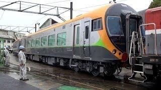 getlinkyoutube.com-JR四国新型特急電車8600系 甲種輸送 川崎重工出場 【JR Shikoku 8600 series】