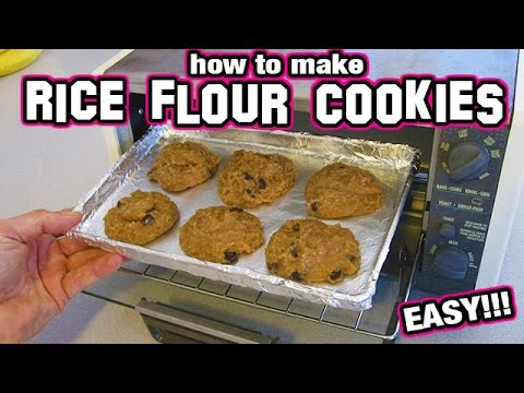How to make Rice Flour Cookies EASY Recipe small batch chocolate chip sugar free low gluten