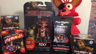 getlinkyoutube.com-Five Nights at Freddy's Foxy Funko action figure, Mystery Minis blind boxes, cards, Mymoji Toys