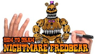 getlinkyoutube.com-How to Draw Nightmare Fredbear (FNAF 4)- Step by Step