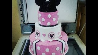 getlinkyoutube.com-TORTA FALSA MINNIE MOUSE - HOW TO MAKE A FALSE CAKE DIY