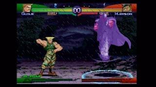 Street Fighter Alpha 3 Gameplay   Guile Vs. M. Bison (Boss Fight + Epic Ending)