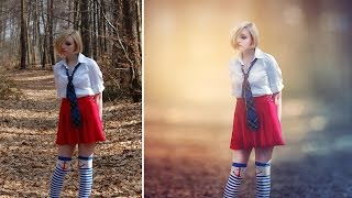 getlinkyoutube.com-Photoshop CC Tutorial - Fantasy Looks Photo Effect Editing