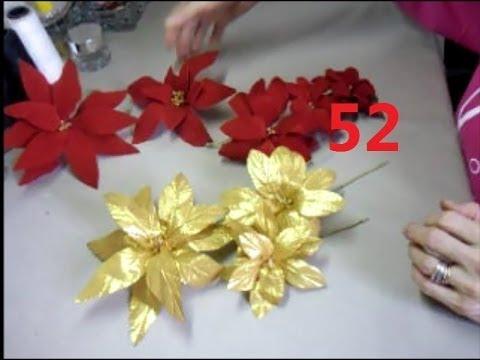 AULA 52: Flor de Natal de Veludo Vermelho