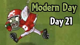 Plants vs Zombies 2 - Modern Day - Day 21: All-Star Zombie