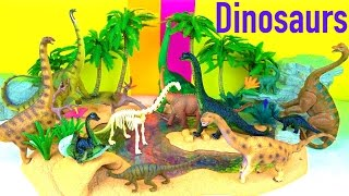 getlinkyoutube.com-Dinosaur Toy Collection - Brachiosaurus Life Cycle - Learn about Dinosaurs in English