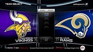 getlinkyoutube.com-MADDEN NFL 15 PS4 Full Gameplay: Vikings vs Rams - Week 1 NFL Regular Season Matchup Simulation