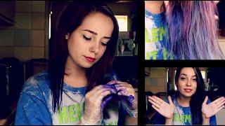 getlinkyoutube.com-Haar Blauw Paars Verven + Kletsen