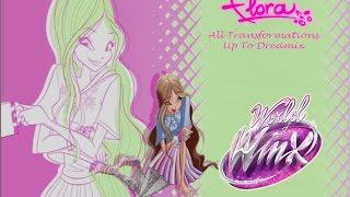 getlinkyoutube.com-Winx Club Flora All Transformations Up To Dreamix HD
