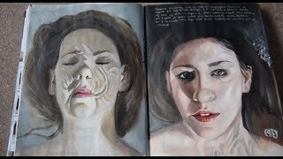 getlinkyoutube.com-AS Art exam sketchbook - A* (Full marks)