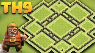 getlinkyoutube.com-Town Hall 9 Farming Base  Anti Giant/Bararch/hogs/goho (Circle Funnel) + Replays