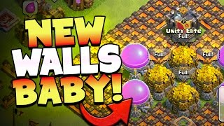 "getlinkyoutube.com-Clash of Clans: ""BUYING NEW LVL 11 WALLS!"" THIS IS EPIC... Farming IS BACK!"
