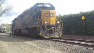 getlinkyoutube.com-CSX Switching and Leaving Leominster