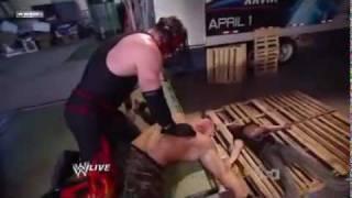 getlinkyoutube.com-WWE Kane destroys Ryder and Cena!!!