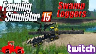 getlinkyoutube.com-Farming Simulator 15: Swamp Loggers!