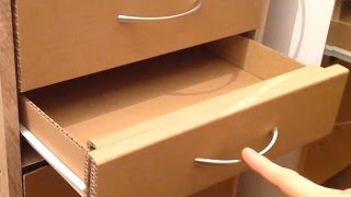 getlinkyoutube.com-How to make a cardboard drawer (cardboard furniture)