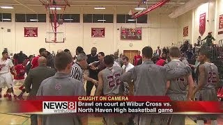 getlinkyoutube.com-Fight stops high school basketball game