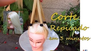 getlinkyoutube.com-Como cortar o cabelo repicado, fácil e rápido - Telma tranças