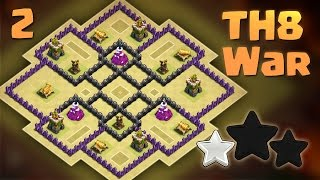 TH8 War Base - Anti Everything - Anti 3 Star - 2016 - Clash of Clans