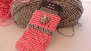 getlinkyoutube.com-Crochet Cell Phone Case - How to Crochet Cell Phone Case