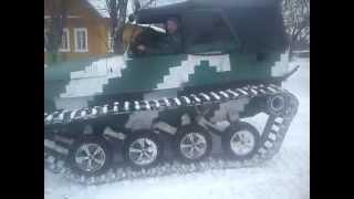 getlinkyoutube.com-Самодельный вездеход Уаз на гусеницах зима 2