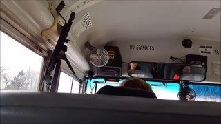 getlinkyoutube.com-School Bus Ride - Bus 1408 - 2006 Blue Bird All American FE