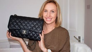 getlinkyoutube.com-Chanel Jumbo Classic Flap Review + what's in my bag